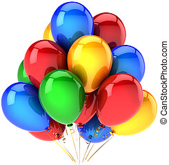 Party helium balloons multicolor