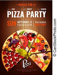 Party Hours Pizza Poster