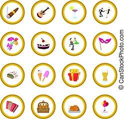 Party icon circle