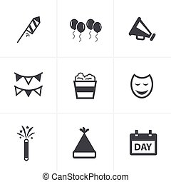 party Icons Set, Vector Design
