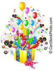 Birthday or party illustration. File includes clipping path