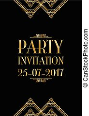 party invitation art deco