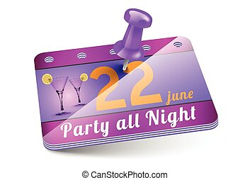 Birthday Party Invitation Card Teenage Party Flyer