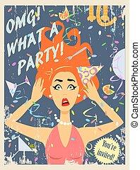 Party invitation design