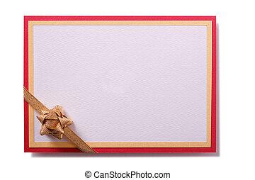 Party invitation invite card gold bow decoration
