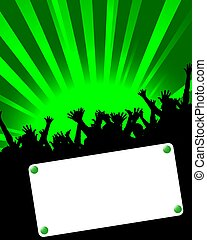party invitation placard green