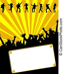 party invitation placard yellow