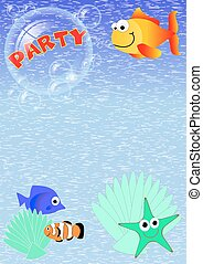 PARTY INVITATION WITH FISH