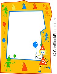 Party Kids Frame - kids party border