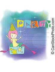 party, kinder