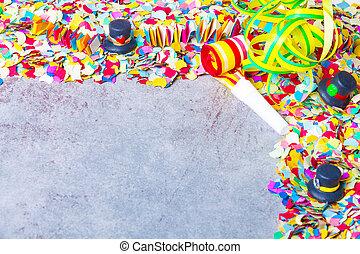 party, kirmes, hintergrund, konfetti