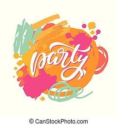 Party lettering sign
