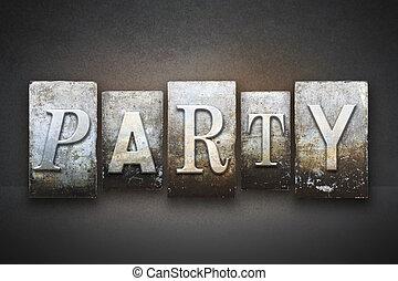 Party Letterpress