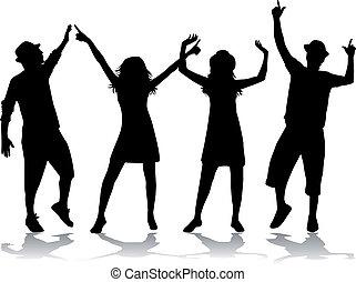 party, leute, tanzen
