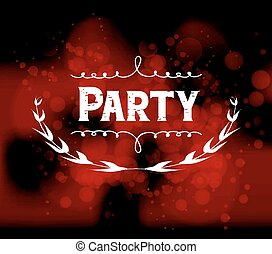 party light vector background
