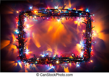 party lights frame