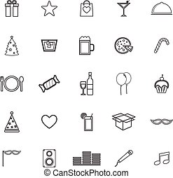 Party line icons on white background