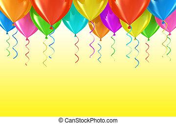 party, luftballone, abstrakt, hintergrund