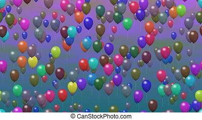 party, luftballone, erzeugt, video