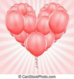 party, luftballone, rotes