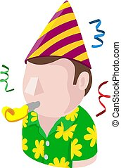 Party Man Avatar People Icon