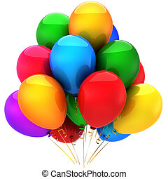 Party multicolored balloons