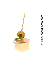 Party nibble - Party food isolated on a white background