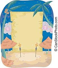 Party Night Beach Blank Board
