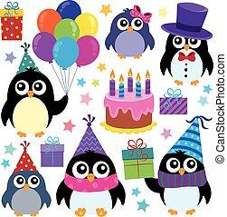 Party penguins theme set 1