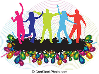 Party People Background - Dancing Young People
