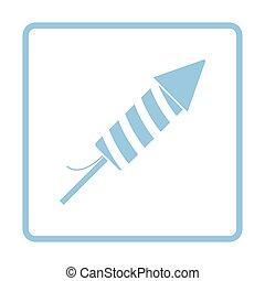 Party petard  icon. Blue frame design. Vector illustration.