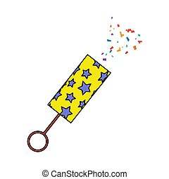 Party Petard Icon. Editable Outline With Color Fill Design. Vector Illustration.