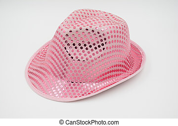 party pink hat isolated on white