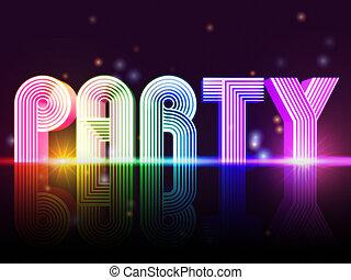 party, plakat