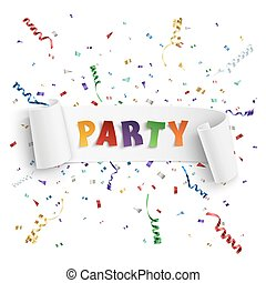 Party poster template.