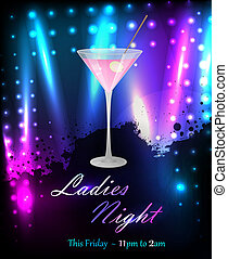 Party poster template with martini