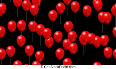 Party red balloons seamless loop