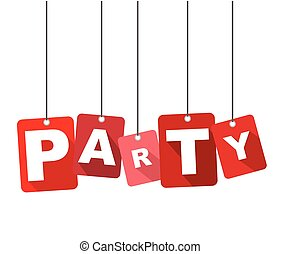 party, red vector party, flat vector party, background party