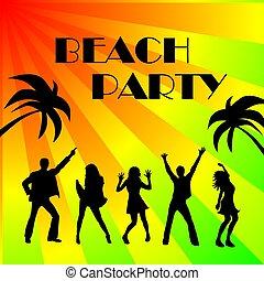 party, sandstrand