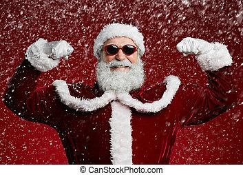 Party Santa in Snow