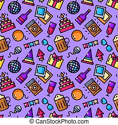 Party seamless pattern vector illustration