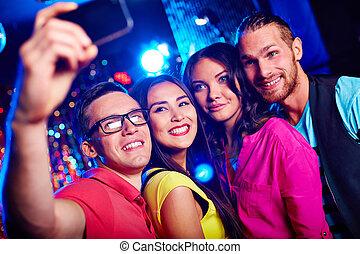 party, selfie