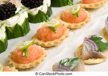 Party snacks - Delicious party snacks ready to be served and...