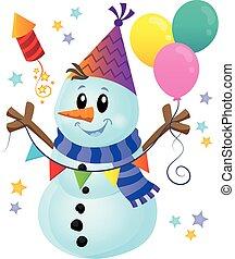 Party snowman theme image 1