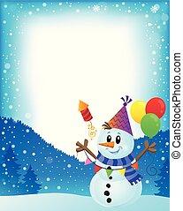 Party snowman theme image 2