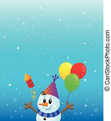 Party snowman theme image 3