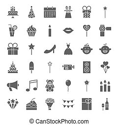 Party Solid Web Icons