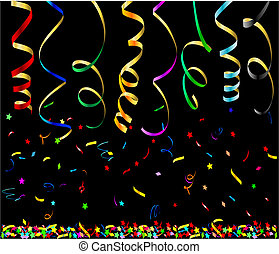 Party streamers. This image is a vector illustration and can...
