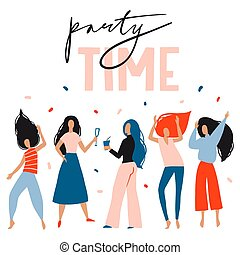 Party time card, poster