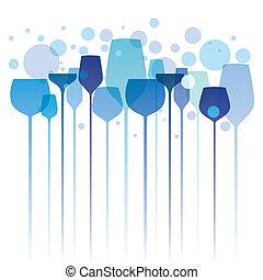 Party time - Stylized illustration of elegant drink glasses